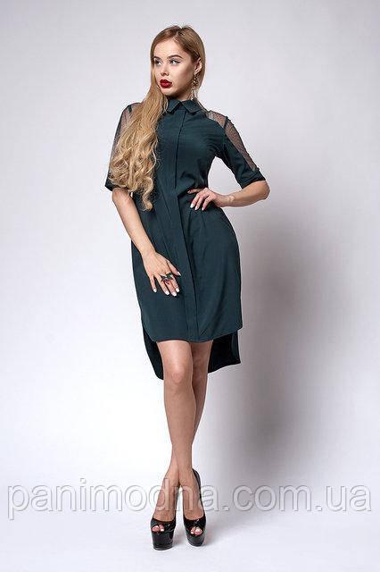 Модное Платье с кружевом. Новинка 2018
