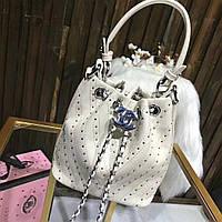 Женская сумка Chanel Шанель эко-кожа дорогой Китай белая