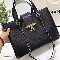 Женская сумка Chanel Шанель эко-кожа дорогой Китай черная