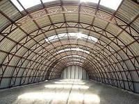 Ангары арочные зернохранилища  Склад  каркасное здание
