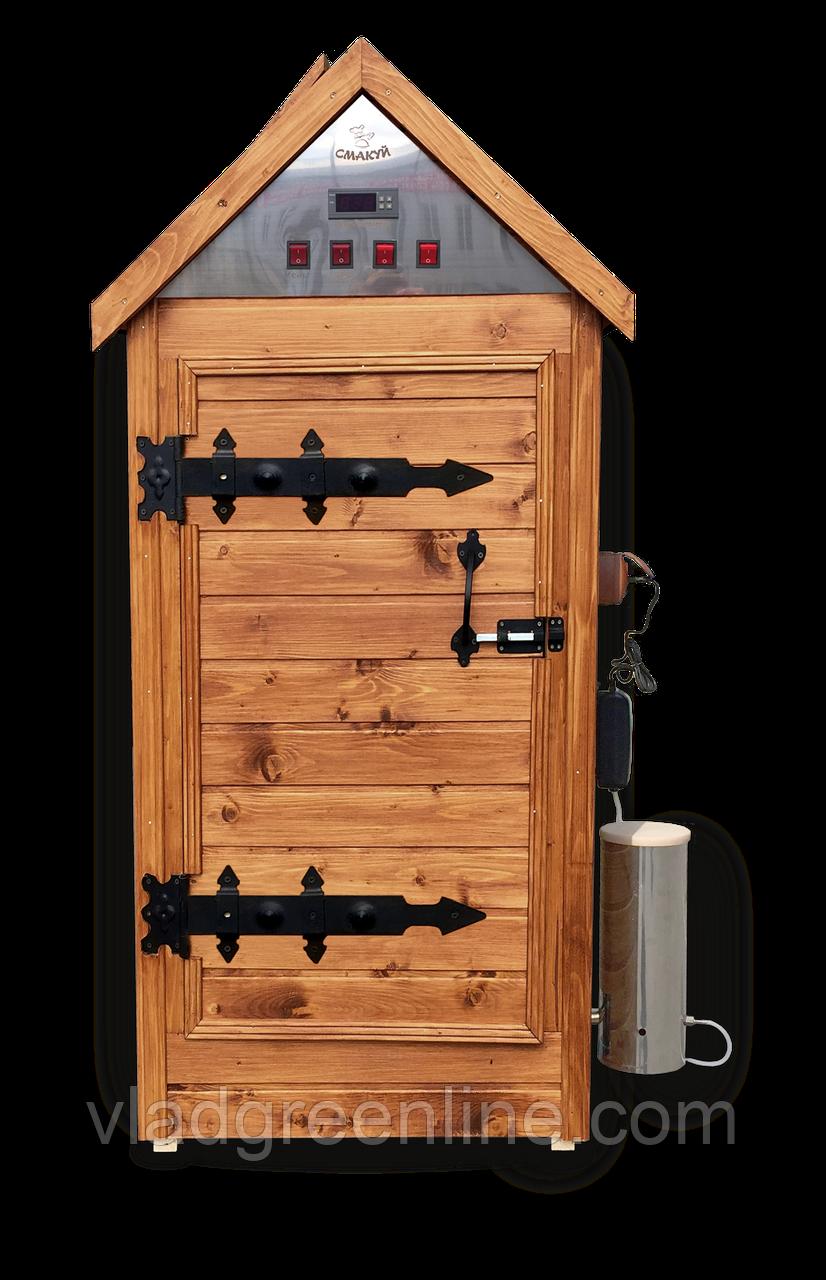 Деревянная коптильня холодного и горячего копчения, вяления и сушки &q