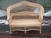 Двухместный диван плетеный из лозы