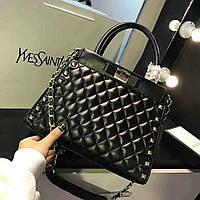 Женская сумка Chanel Шанель эко-кожа дорогой Китай цвет черный