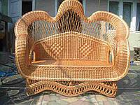 """Фигурный плетеный диван из лозы """"Королевский"""""""