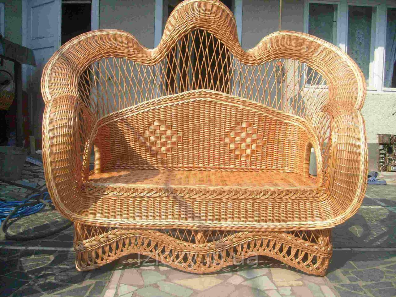 """Фигурный плетеный диван из лозы """"Королевский"""", фото 1"""