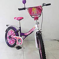 "Велосипед детский с приставными колесами TILLY Балеринка 20"" T-22029 purple + white"