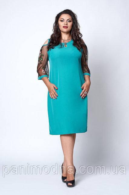 Модное женское платье с красивым рукавом