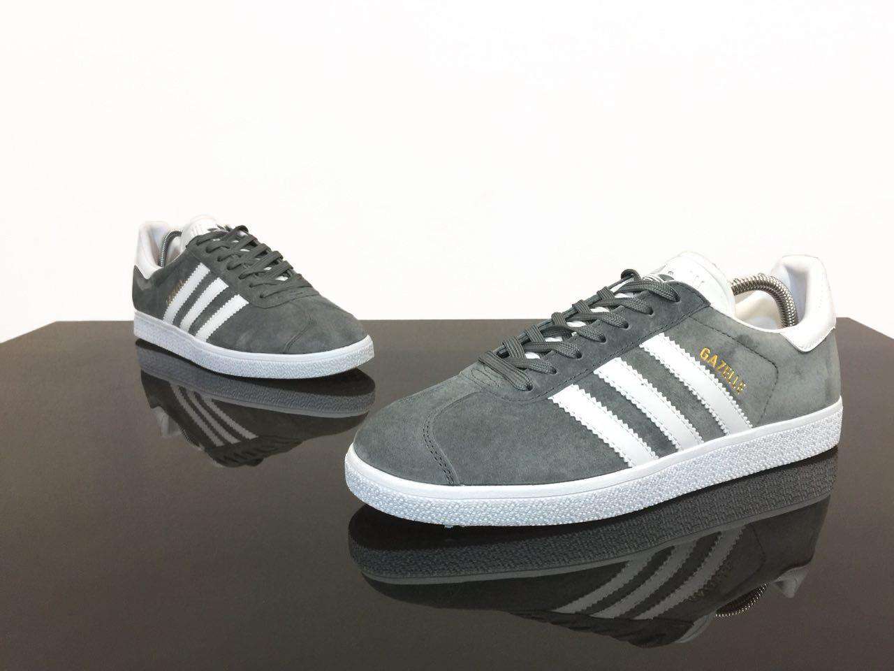 Мужские Кроссовки Adidas Gazelle Grey-White