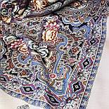 Бенефис 1769-2, павлопосадский платок шерстяной (двуниточная шерсть) с шелковой вязаной бахромой, фото 9