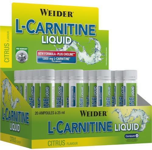 Weider L-Carnitine Liquid 20x25ml