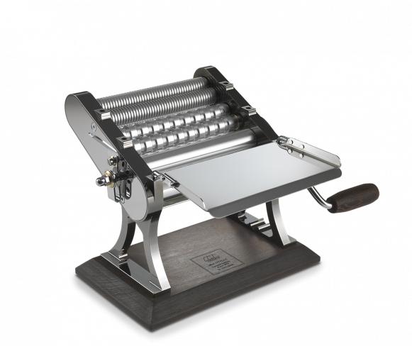 Ретро машинка для раскатки теста + лапшерезка Marcato Design Otello 150 mm Colore GUN METAL