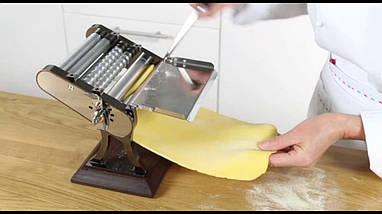 Ретро машинка для раскатки теста + лапшерезка Marcato Design Otello 150 mm Colore GUN METAL, фото 2