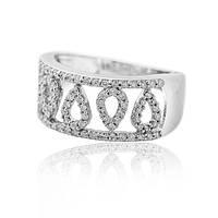 вечерние кольцо из белого золота с бриллиантами