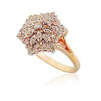 элегантное кольцо из желтого золота с бриллиантами