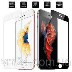 Защитное стекло для Apple iPhone 6\6S белое .черное  на весь экран