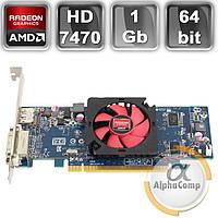 Видеокарта ATI Radeon HD7470 (1Gb/GDDR3/64bit/DVI/DP) БУ