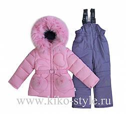 Детский зимний комбинезон для девочки от Kiko 4926, 74-98, фото 2