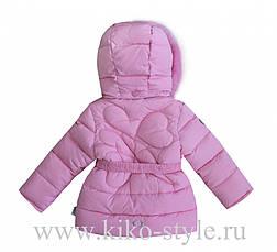 Детский зимний комбинезон для девочки от Kiko 4926, 74-98, фото 3
