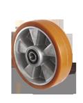 Колесо 125x50 алюминий/полиуретан, ступица 60 мм, нагрузка 500кг