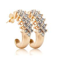 оригинальные серьги из желтого золота с бриллиантами