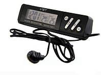Часы цифровые в авто VST-7067 c термометром внешним и внутренним