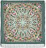 Кармелита 1775-12, павлопосадский платок шерстяной с шелковой бахромой