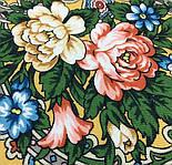 Жизель 1783-10, павлопосадский платок шерстяной (двуниточная шерсть) с шелковой вязаной бахромой, фото 6