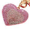 Брелок Меховой Помпон с Сердцем на Сумку для Модниц, фото 5