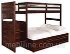 """Двох'ярусне ліжко з драбиною-комодом """"П'єро"""", фото 4"""