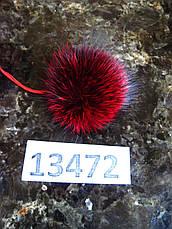 Меховой помпон Чернобурка, Красный, 7 см, 13472, фото 2