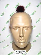 Меховой помпон Чернобурка, Красный, 5 см, 13474, фото 3