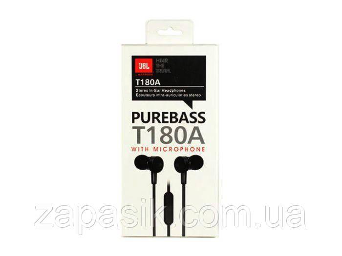 Вакуумные Наушники В Стиле JBL T180A с Микрофоном Pure Bass am