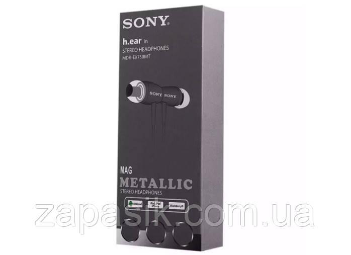 Вакуумные Наушники В Стиле Sony MDR-EX750MT с Микрофоном Stereo Headphones am