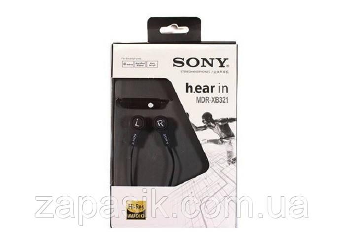 Вакуумные Наушники В Стиле Sony MDR-XB321 с Микрофоном Stereo Headphones am