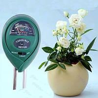 3 в 1 Измеритель кислотности почвы, влажности и освещения (люксметр)