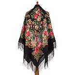 Пленительный июль 1730-18, павлопосадский платок шерстяной  с шелковой бахромой, фото 3