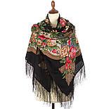 Пленительный июль 1730-18, павлопосадский платок шерстяной  с шелковой бахромой, фото 2