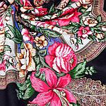Пленительный июль 1730-18, павлопосадский платок шерстяной  с шелковой бахромой, фото 4