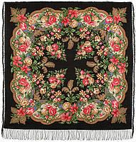 Пленительный июль 1730-18, павлопосадский платок шерстяной  с шелковой бахромой, фото 1