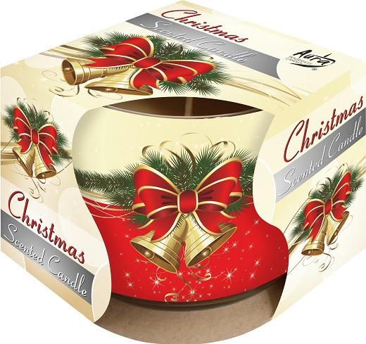 Свеча рождество ароматическая в стекле  1 шт