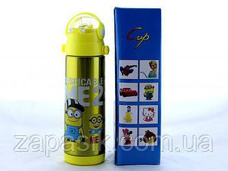 Детский Вакуумный Термос с Трубочкой Поилкой ZK G 604 Disney Дисней 500 мл