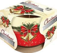 Свеча рождество ароматическая в стекле  1 шт.