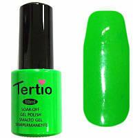 Гель-лак Tertio №22 неоновый зеленый 10 мл