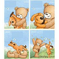 Тетрадь Kite Popcorn Bear 12 листов клетка PO18-232