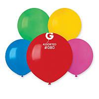 """Латексные воздушные шарики 19"""" пастель 80 ассорти 50шт/уп Gemar"""