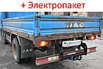 Фаркоп - Jac 1020 Бортовой (2006--) съемный на 2 болтах на пластине кованый