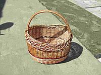 Корзина плетеная из лозы модна