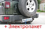 Фаркоп - Jeep Grand Wrangler Внедорожник (2006--) съемный на 2 болтах