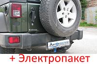 Фаркоп - Jeep Grand Wrangler Внедорожник (2006--) съемный на 2 болтах, фото 1