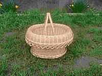 Корзина пасхальная плетеная ручной работы